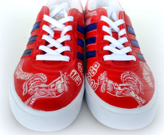 Custom Mens Shoes Painted Sriracha Shoes Sriracha by PricklyPaw