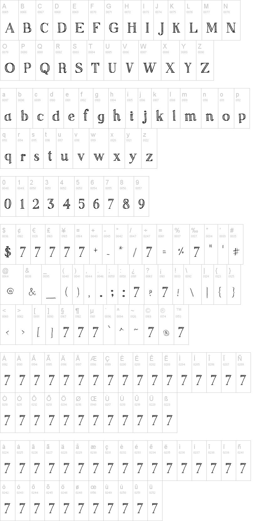 Sketch Serif Font | dafont com | Creative Projects | Fonts