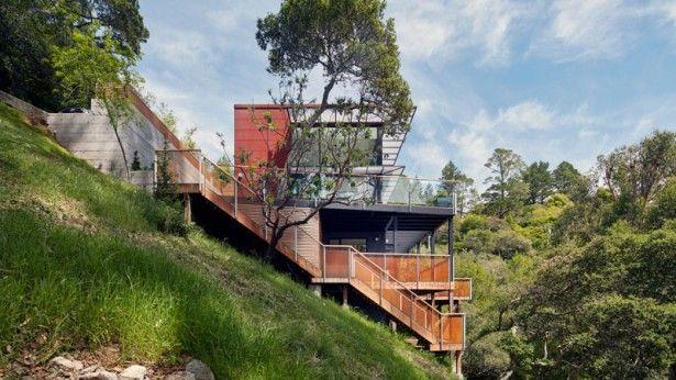 Dit huis in San Francisco is gebouwd op een steile heuvel en dat ziet er te gek uit