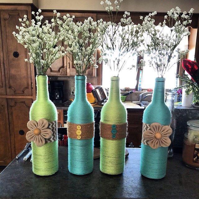 Wine bottle crafts craft ideas pinterest wine for Wine bottle arts and crafts