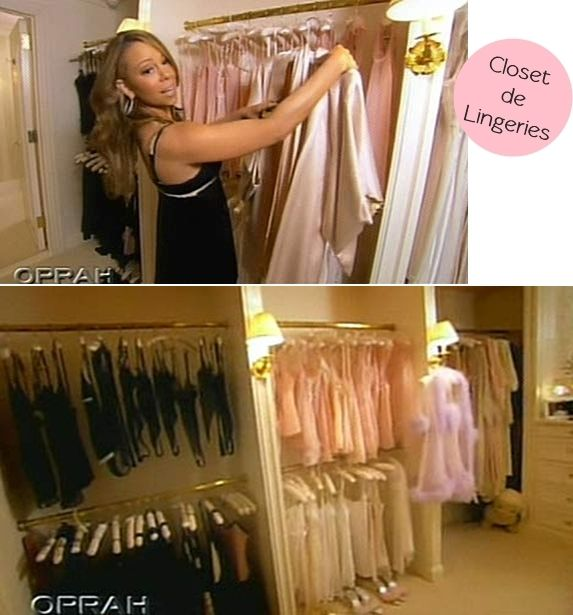 Mariah Carey Shows Off Her Lingerie Closet Of Oprah This Is Part A Much Larger Walk In Which Than Most People Homes