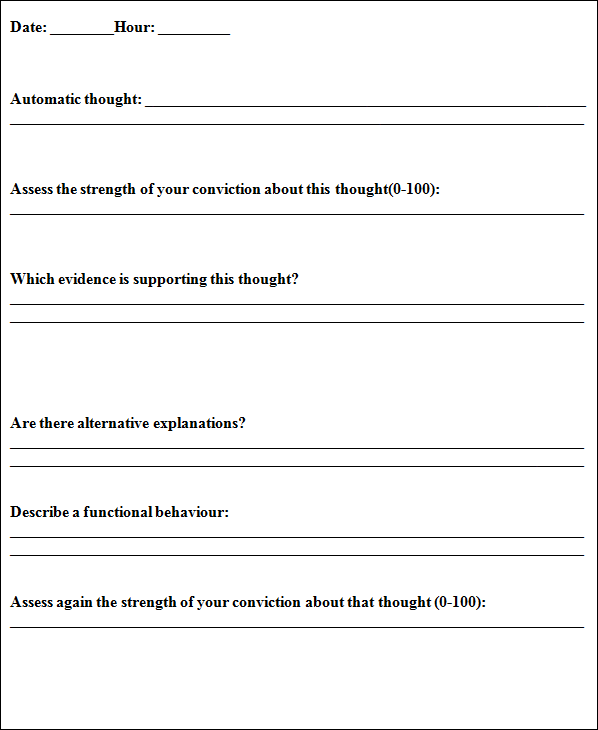 perfectionism worksheets - Google Search | Cognitive