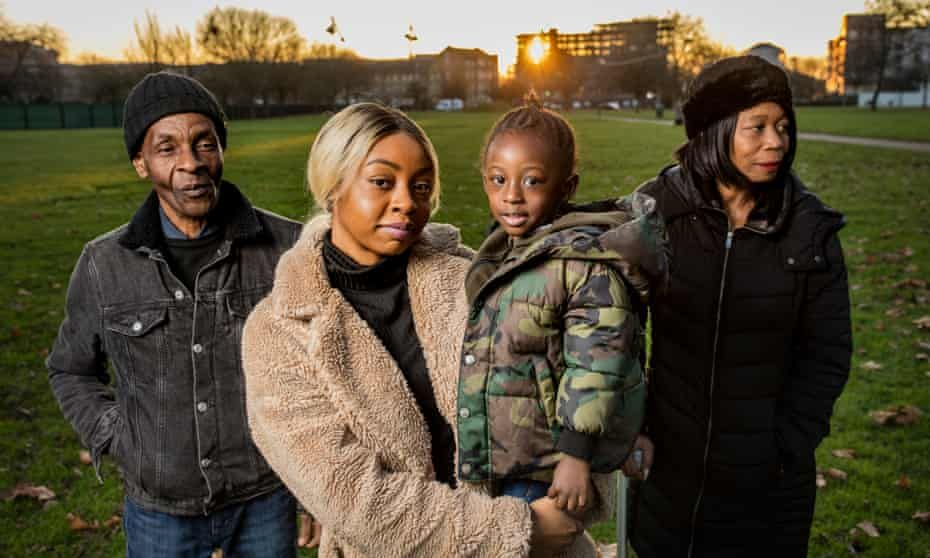 Three generations of Windrush family struggling to prove