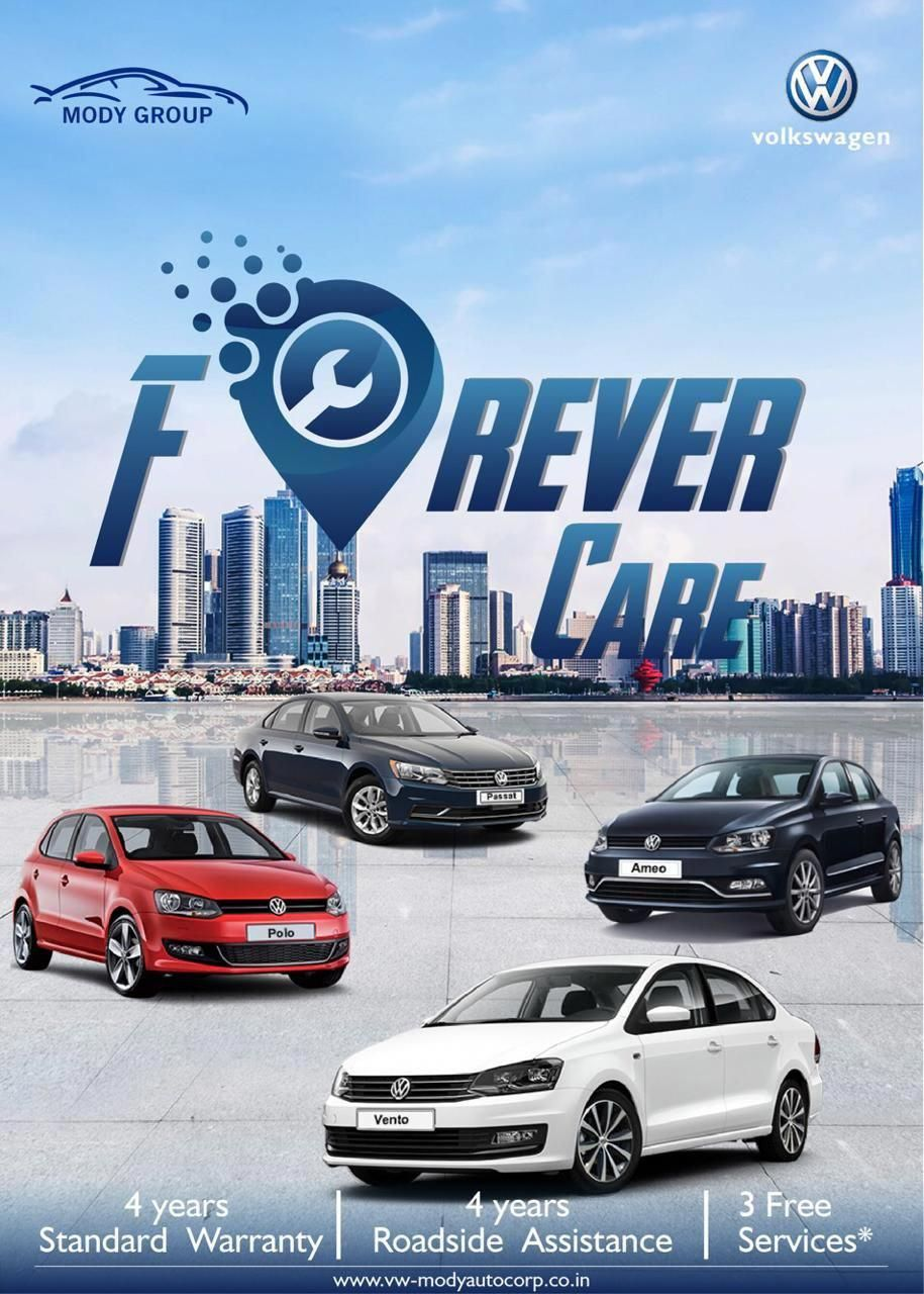 Forever care volkswagen is now providing 4 year standard