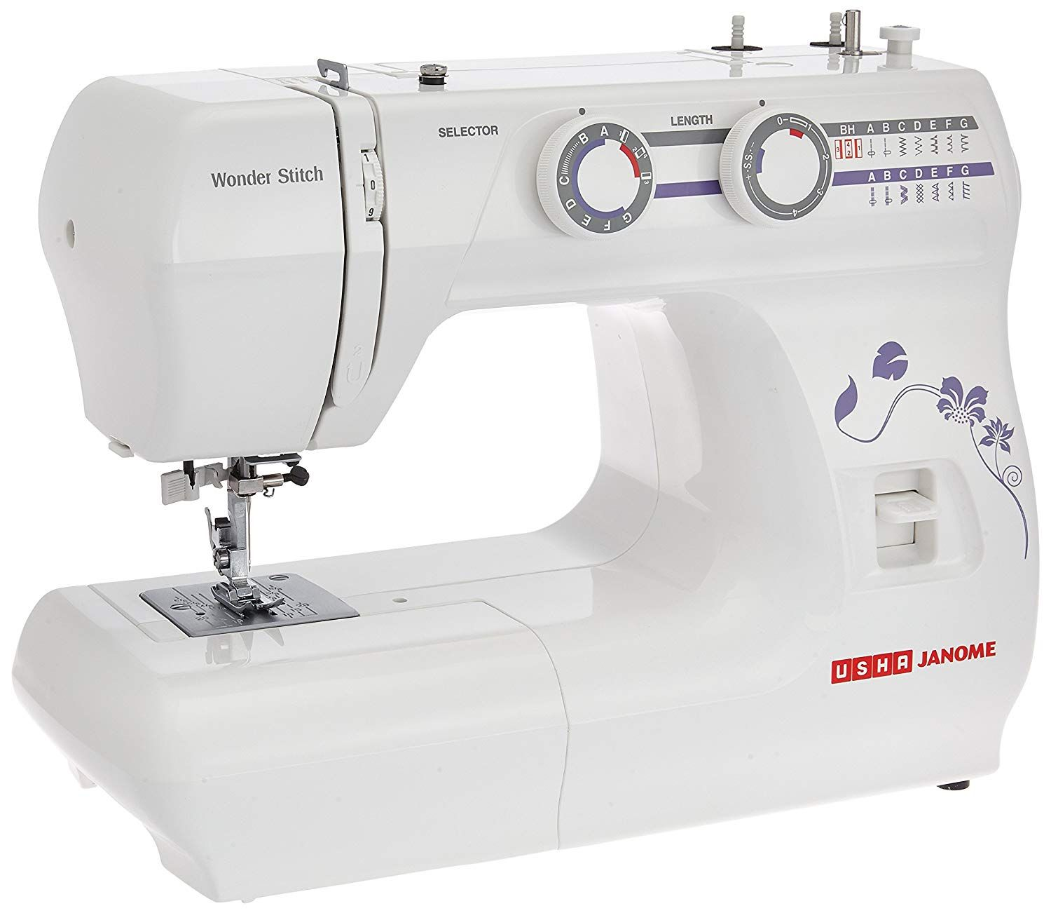Buy Usha Janome Wonder Stitch Automatic Zig Zag Electric Sewing Machine White Online At Low Prices In India Amazon In Sewing Machine Parts Sewing Machine Accessories Sewing Machine Online