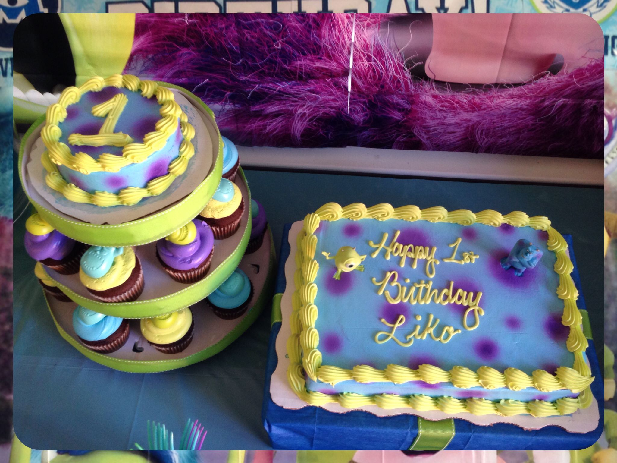 Groovy Likos First Birthday Cake Smash Cake Cupcakes Cheap Cute Funny Birthday Cards Online Elaedamsfinfo