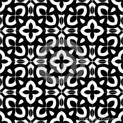 Abstract Background Black And White Pattern Design Isolated Vector