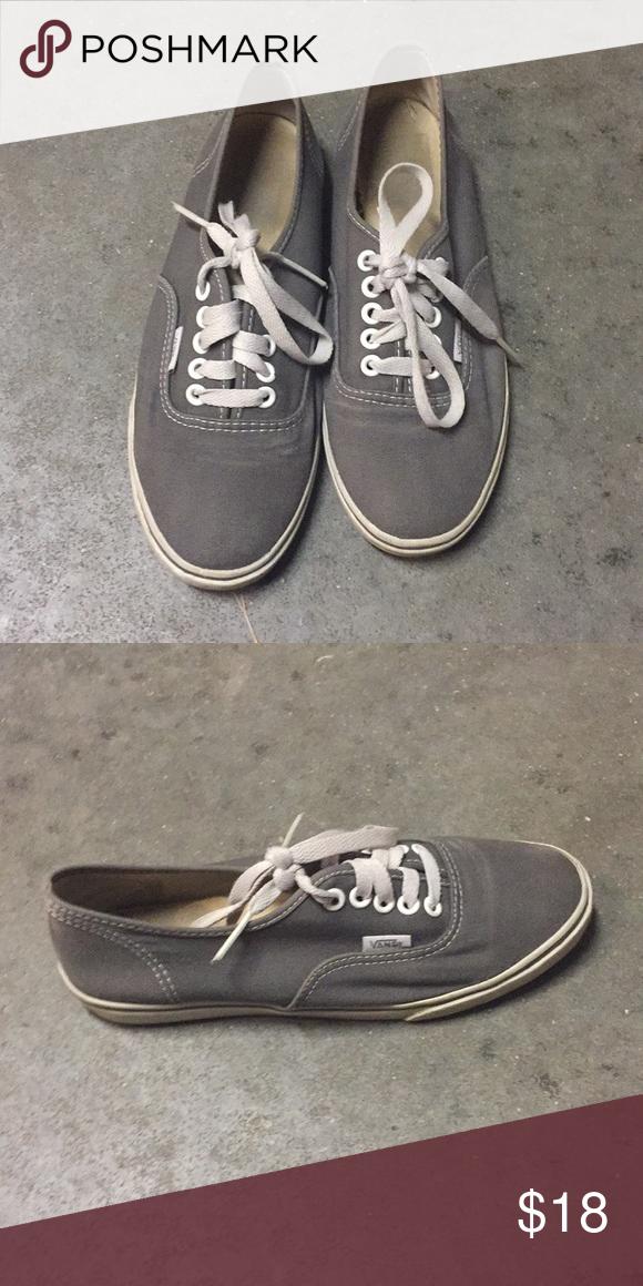 Grey vans Thin sole, they were worn a