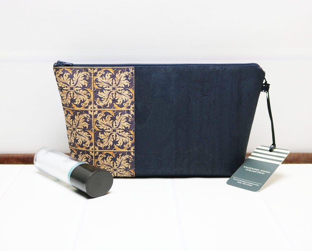 Eco Friendly Gift Cork Zipper Purse Vegan Bag Small Make Up Bag
