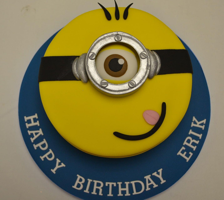 Despicable Me Minion Face Cake - Celebration Cakes
