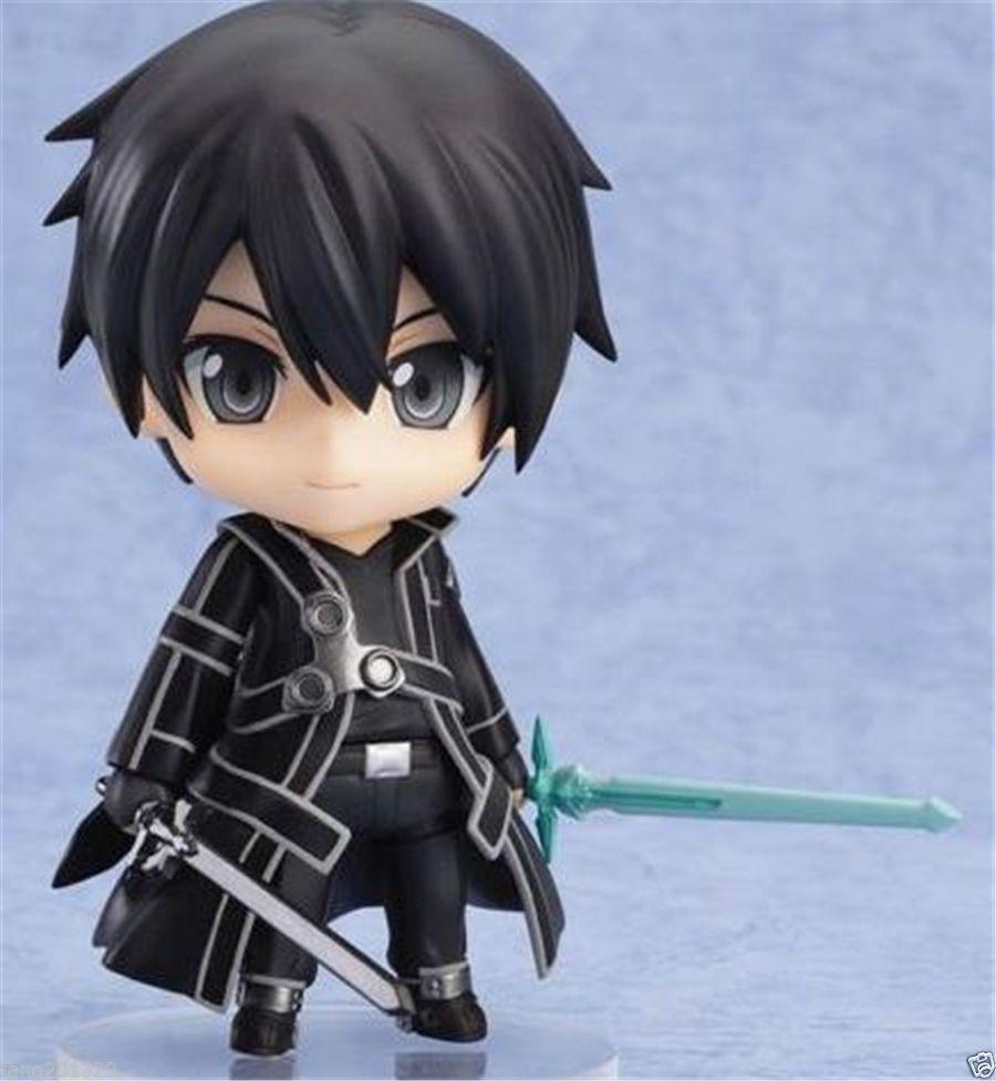 Anime sword art online kirito nendoroid q edition pvc