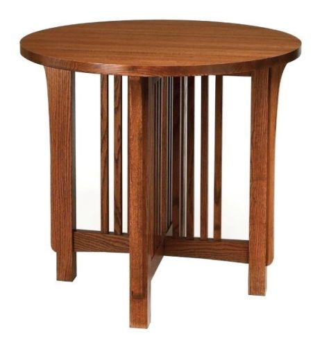 Mission Arts Crafts Stickley Style Round Side Accent End