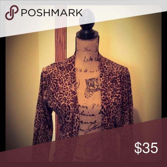 Ladies Leopard Print Cardigan | Fall vest, Leopards and Coats