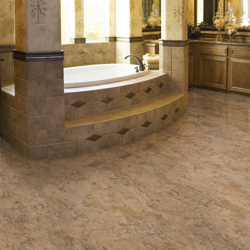 Trafficmaster Allure 12 In X 36 In Corsica Dark Luxury Vinyl Tile Flooring 24 Sq Ft Case 42210 0 The Home Depot Luxury Vinyl Tile Vinyl Tile Allure Flooring