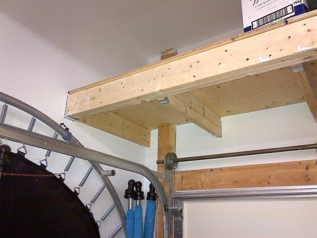 Garage Storage Loft - How to Support? | Diy home ...