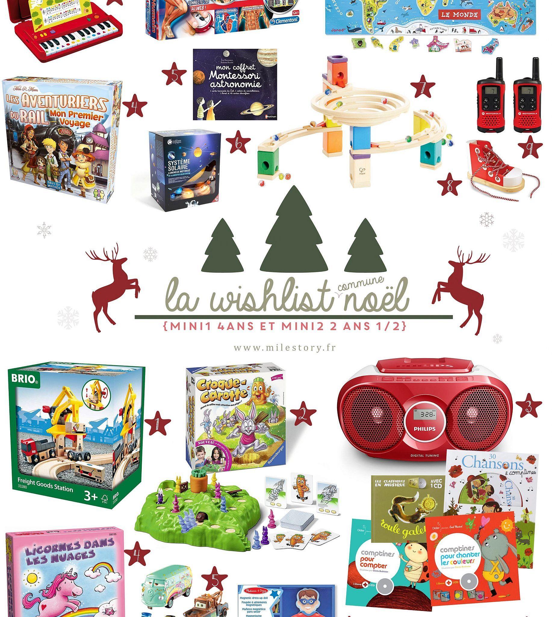Wishlist Noël 2017 – idées cadeaux enfants de 4 ans et 2 ans et
