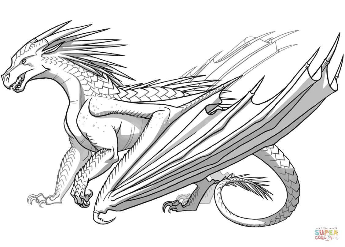 51 Printable Colouring Dragon Pictures Dragon Coloring Page Dragon Pictures Wings Of Fire Dragons