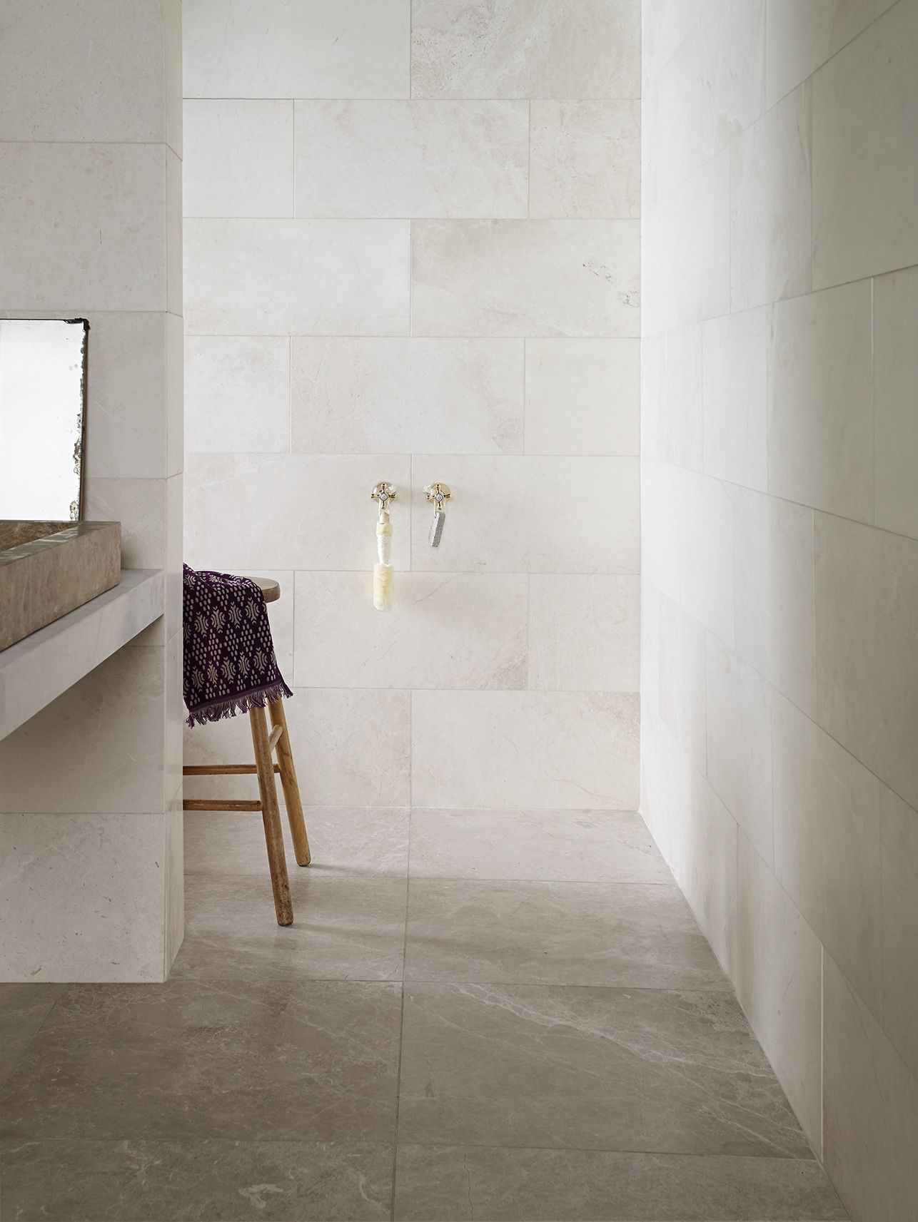 Porcini Emperador Honed Marble Tiles | Honed marble, Marble wall and ...