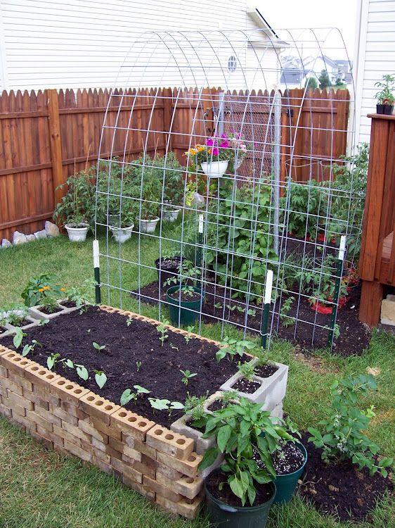 Garden Trellis For Climbing Plants Bricks That Can Act As Pots