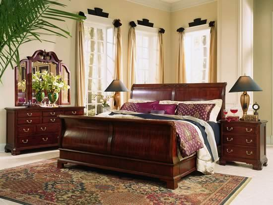 Dark Cherry My Old Sleigh Bed That Wouldnt Fit In The New