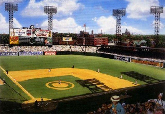Sportsman S Park St Louis 1946 World Series By Bill Purdom Baseball Park Baseball Stadiums Parks Baseball Stadium