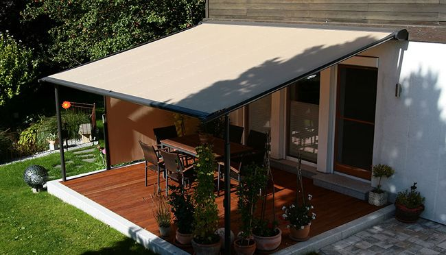 Retractable Pergola Awning Best Quality Design Black Stained Finish Tough Steel Posts Crossbeams Rafters Roof Cover