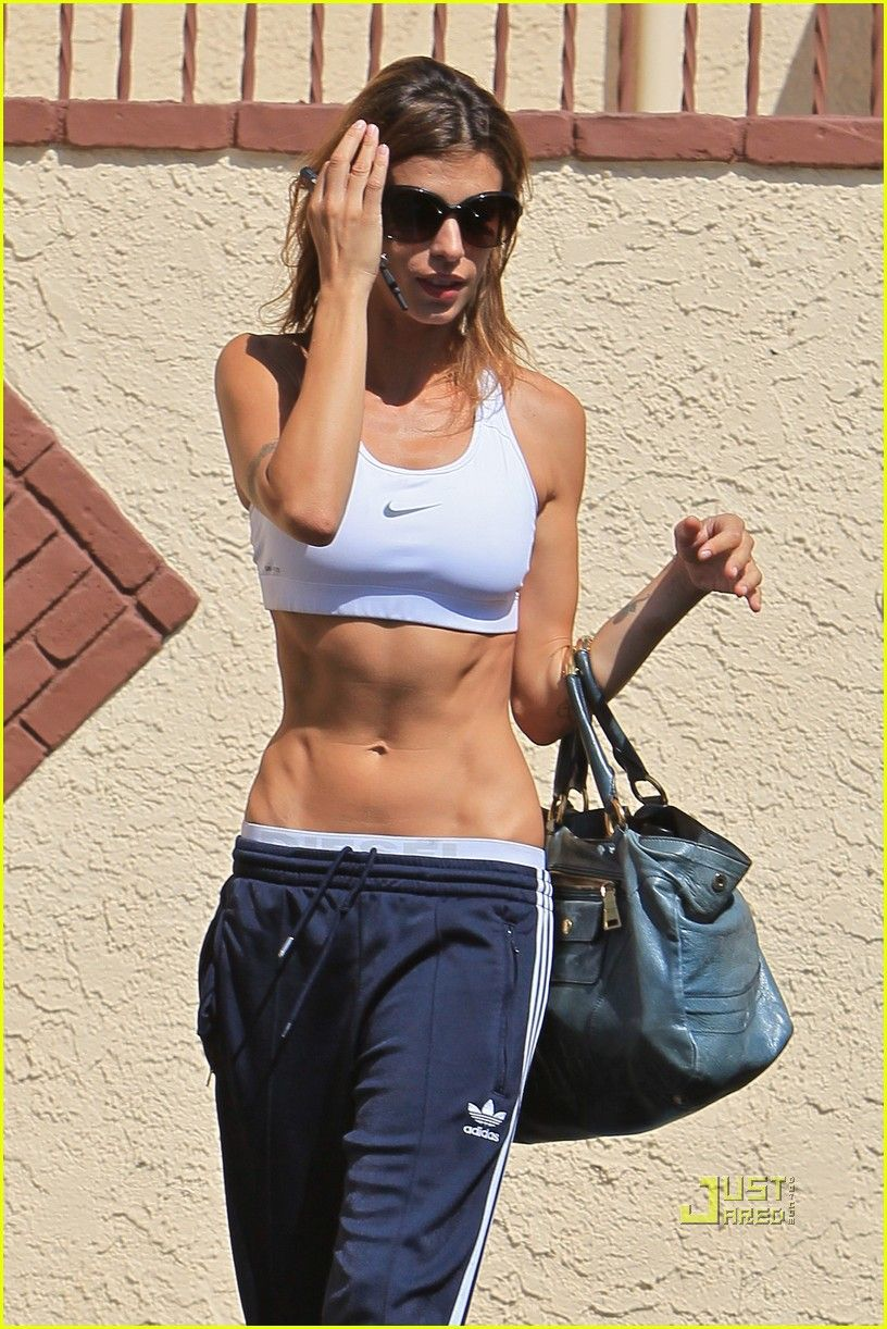 wouldn't mind having Elisabetta Canalis' abs!