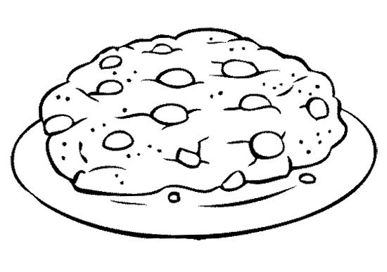 The Big Cookies Coloring Page Big Chocolate Big Chocolate Chip