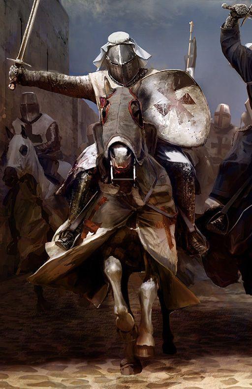 Knights on Horses by Mariusz Kozik