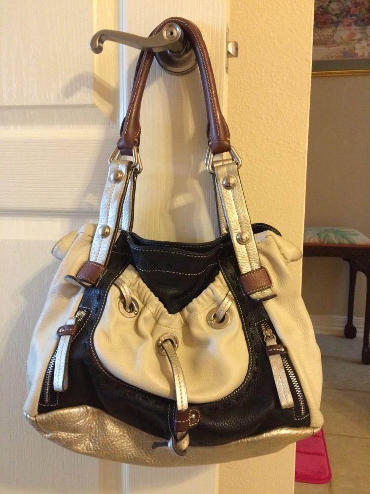 B Makowsky Women S Four Color Leather Handbag Qvc 150 Ebay