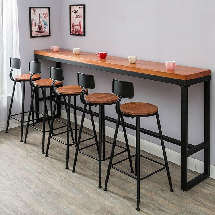 Starbucks Bar Table And Chair Combination American Style Coffee Shop High Table Solid Wood Bar Iron Bar Long Tabl Bar Table And Stools Bar Table Pub Table Sets