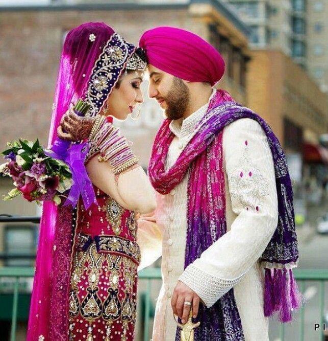 Stunning Punjabi Bride and Groom Photo