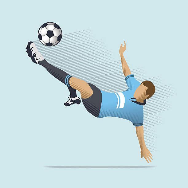 Soccer Player Vector Art Illustration Soccer Players Football Illustration Football Shirt Designs