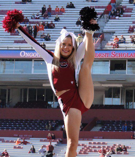 SC Gamecocks cheerleader.