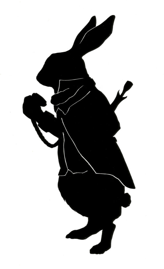 March Hare Pdf Not For Commercial Use Rabbit Silhouette March