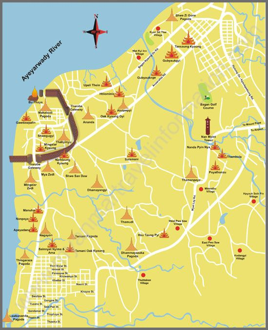 Bagan Maps Maps of the Cities in Myanmar Travel Map Pinterest