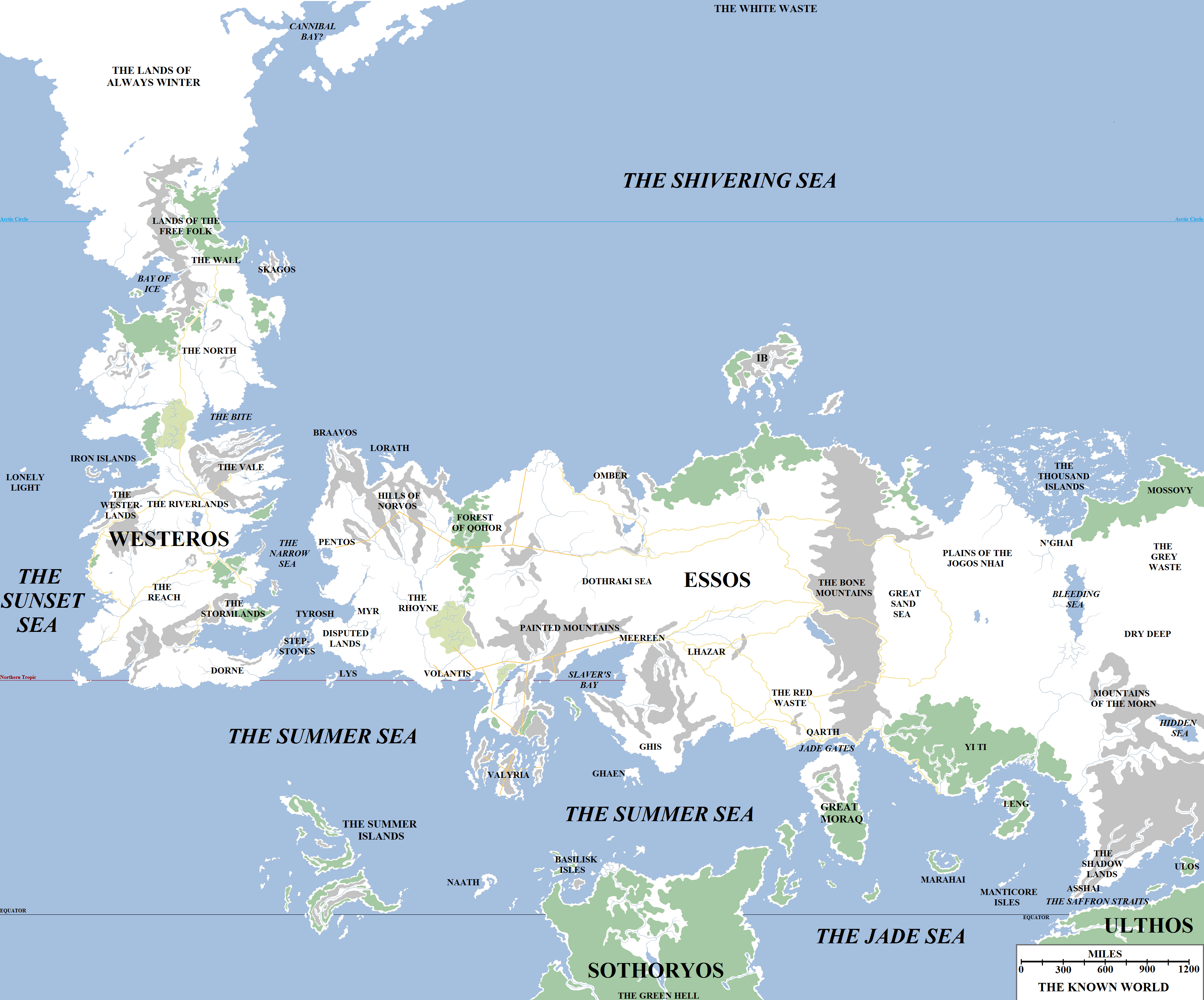 Geographic Map 1 The Known World Atlas Of Ice And Fire ... on game of thrones continents, sca known world map, ice and fire world map, game of thrones world map pdf, game of thrones chart, game of thrones maps and families,