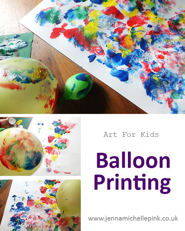 balloon printing childrens art activity super fun and super messy jenna michelle pink blog