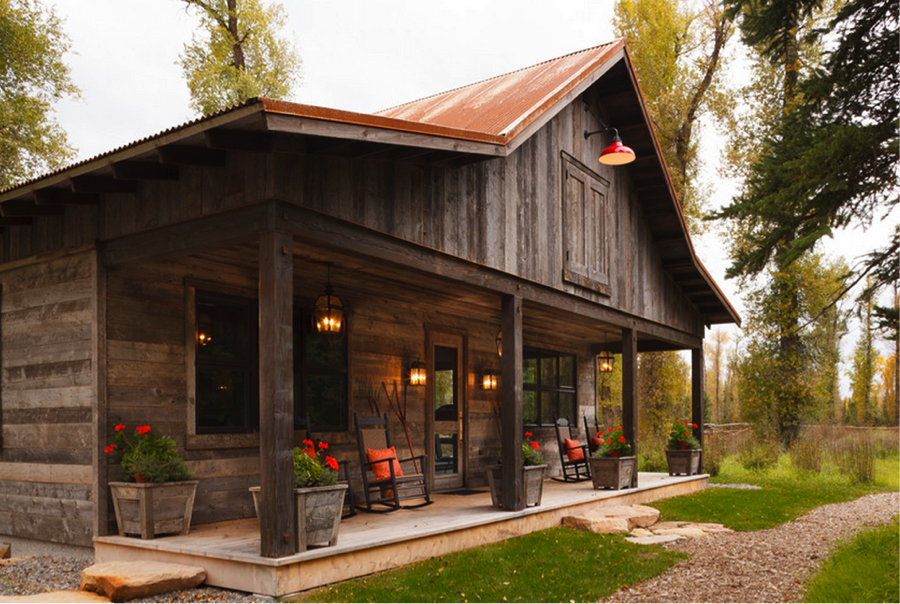 Rustic ranch house google search house ideas for Modern rustic farmhouse plans