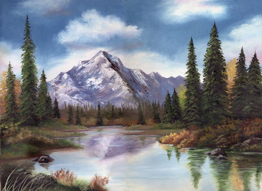 Beautiful Mountain Scene By Lacie Via Deviontart Landscape Canvas Mountain Scene Mountain Paintings