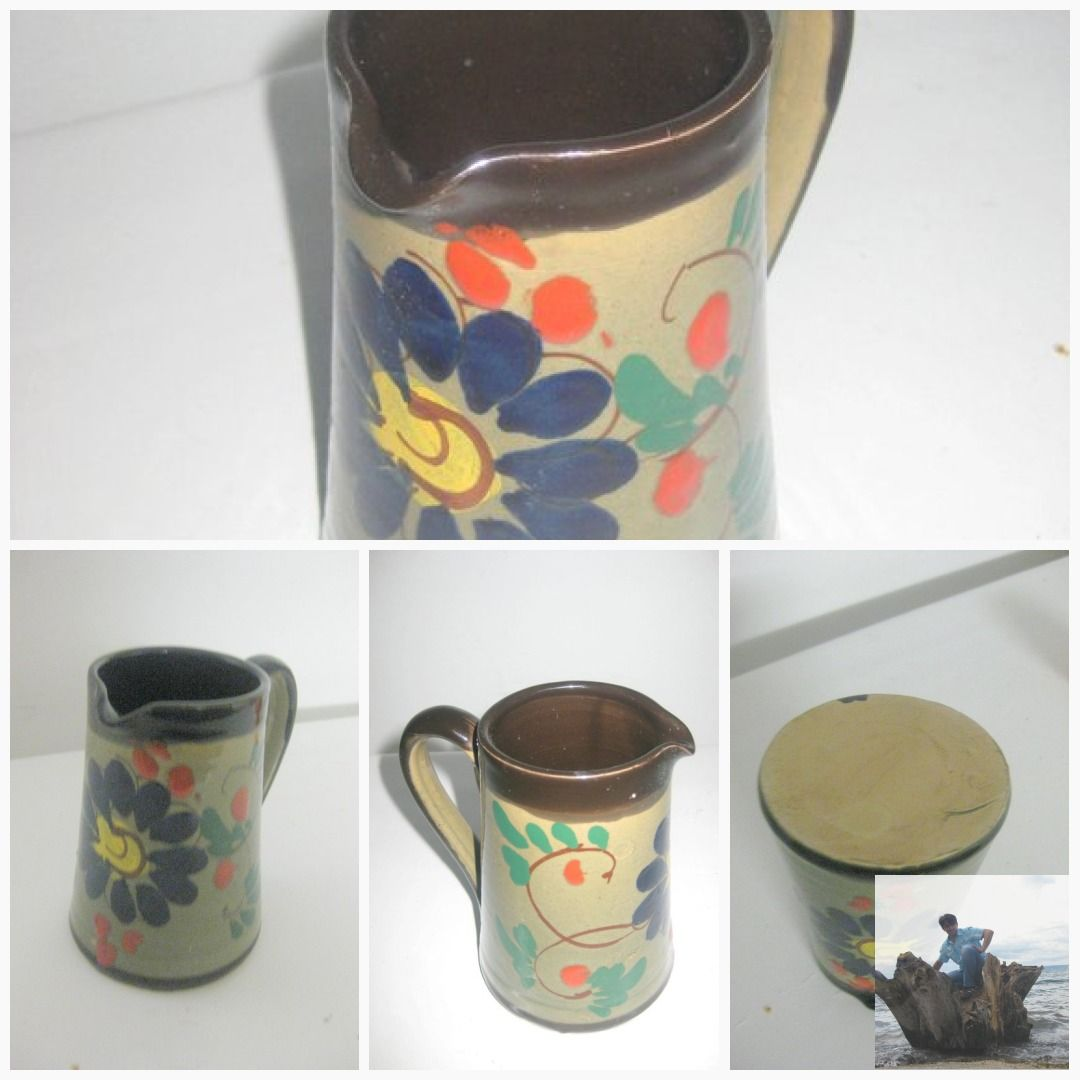 Studio Ceramic Jug With Henkel Hand Made Wine Jug Water Jug German Ceramic Bierkrug 70s 1970 Bierkrug Bilder Farben