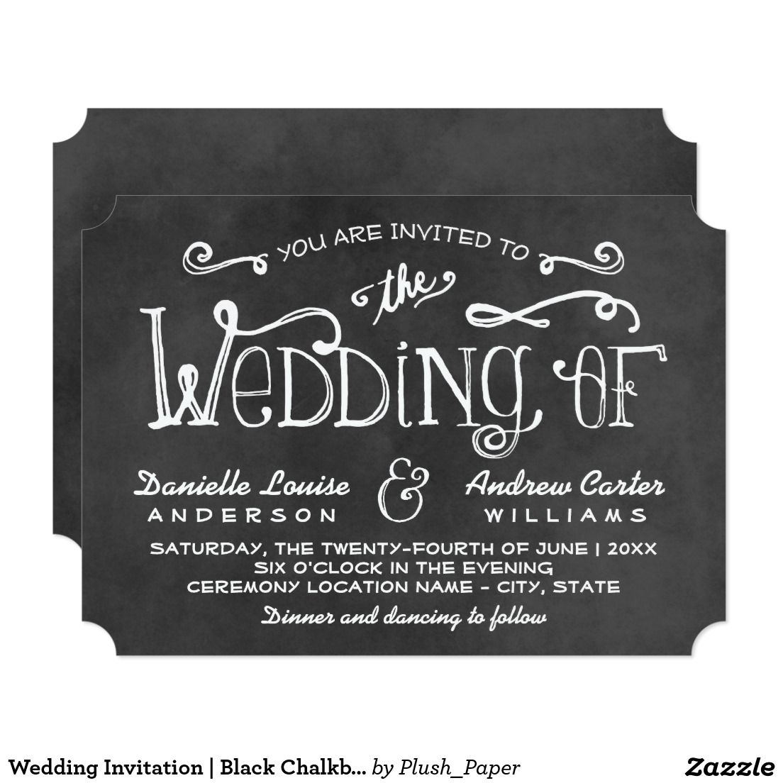 Create your own Invitation Black wedding