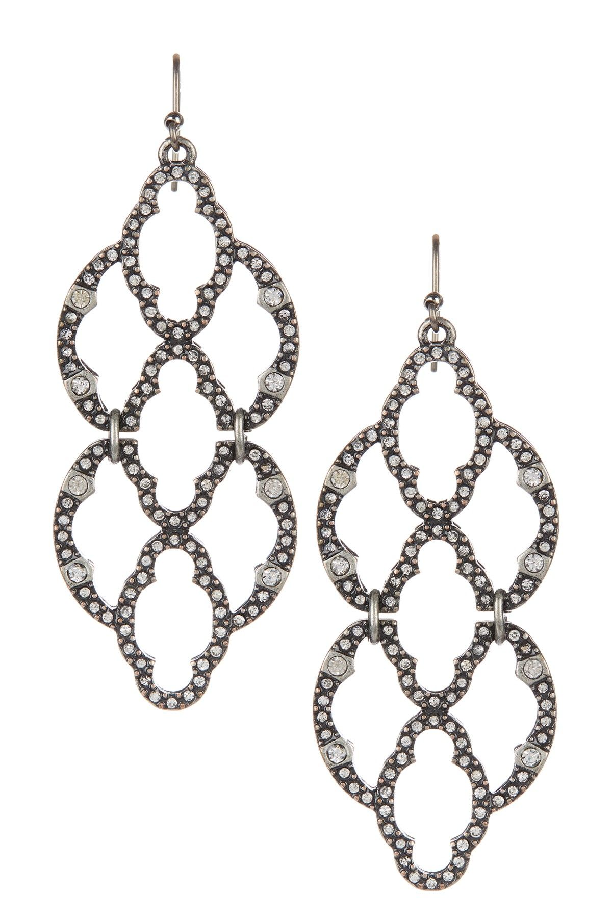 Lucky Brand Indian Pave Drop Earrings