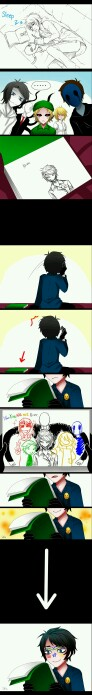 Bloody Painter, Eyeless Jack, Slenderman and other... Beautiful and funny X'D