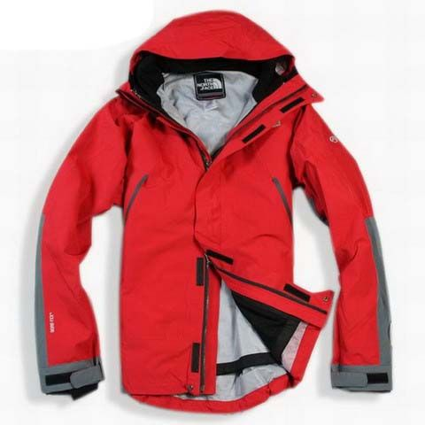 Mens The North Face Triclimate 3 In 1 Jacket Red Light Gray