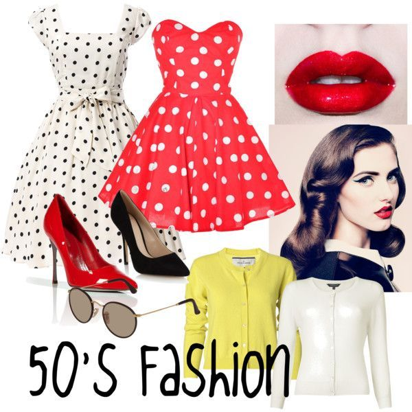 Throwback-50's #decadesdayspiritweek Throwback-50's by tee-teeluv on Polyvore #decadedayoutfits