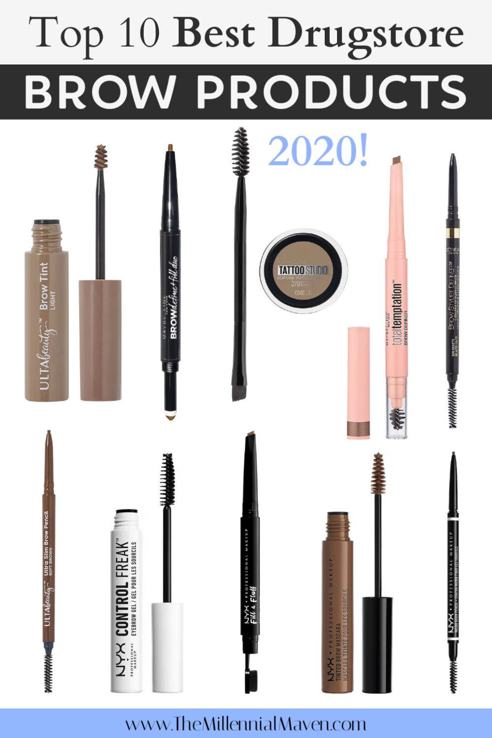 Photo of Top 8 Best Drugstore Eyebrow Products! | Best Drugstore Makeup 2019 | The Millennial Maven