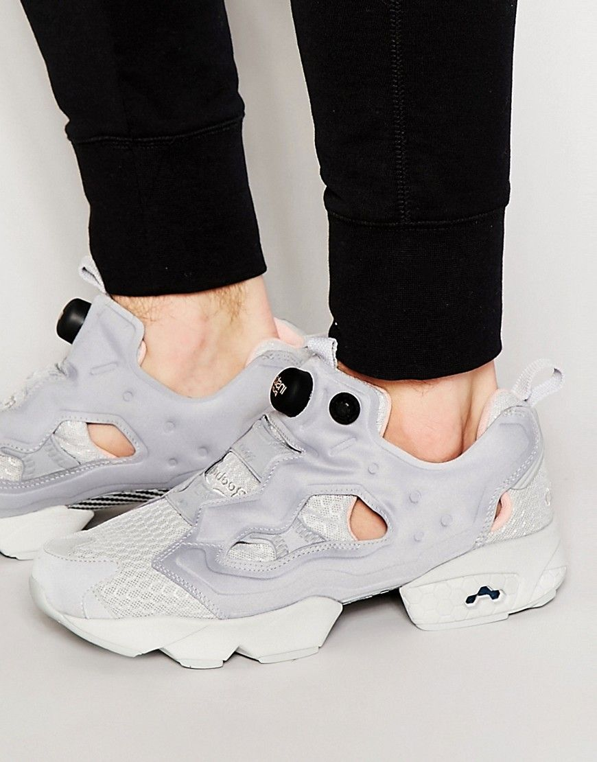 Reebok Instapump Fury CLSHX Trainers In Grey V69687 at asos.com