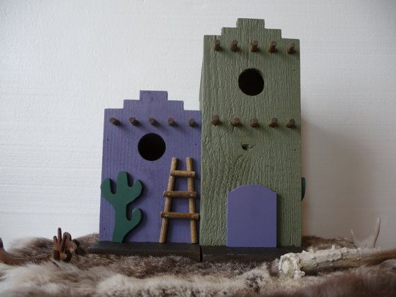 Southwestern Spanish Mexican Adobe Decorative Outdoor Bird House from Plus Z Ranch