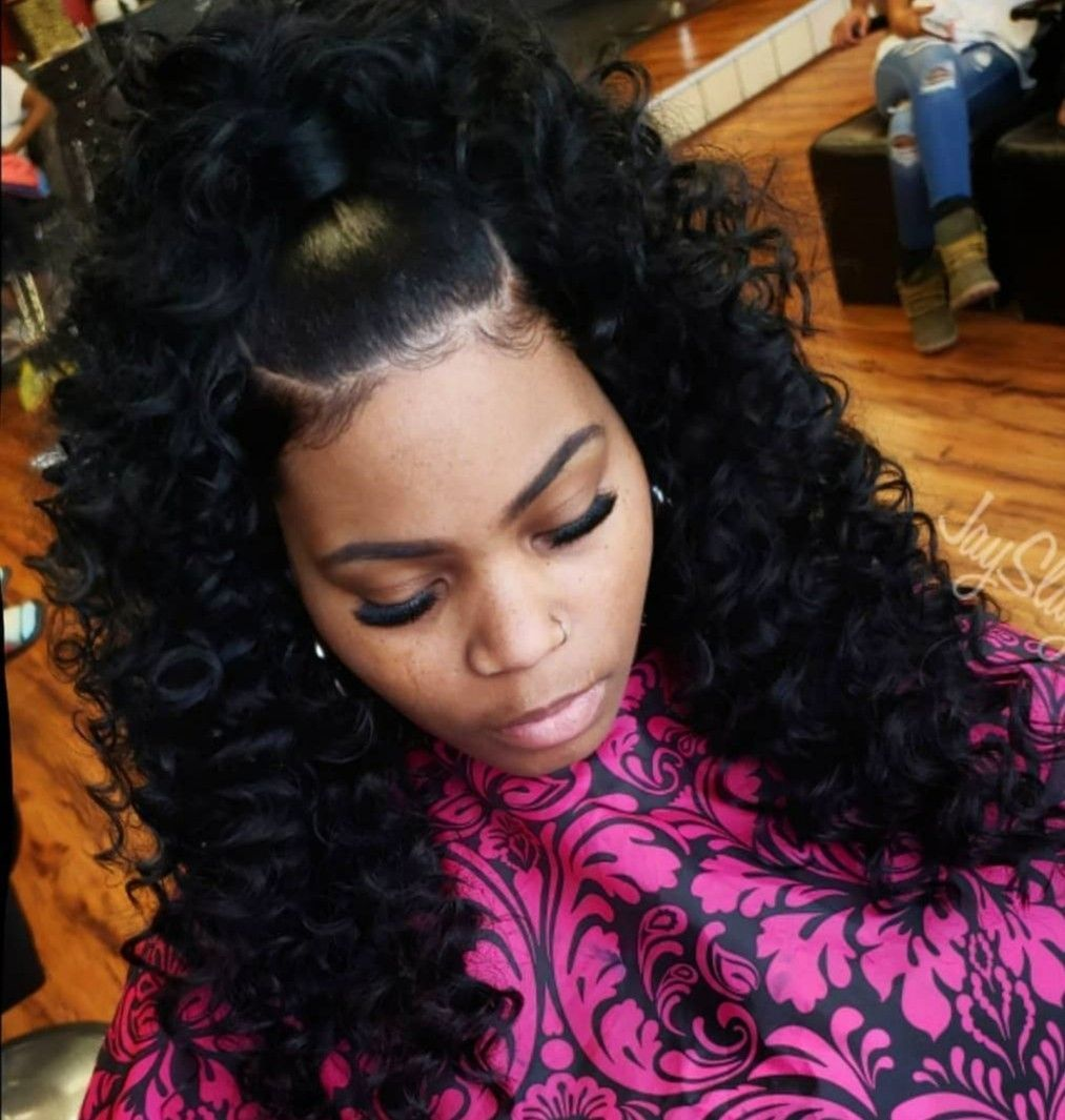 Best Photographs Half up half down hair black women ...